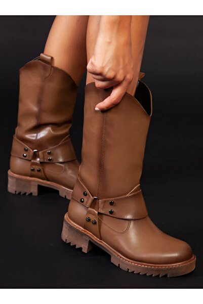 ayakkabıhavuzu Kadın Vizon Cilt Bot