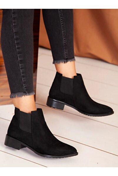 ayakkabıhavuzu Kadın Siyah Süet Bot