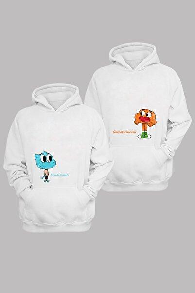 Phi Ajans Sevgili Kombini Gumbell - Pamuklu Kapüşonlu Sweatshirt Takım-(2 Adet)4