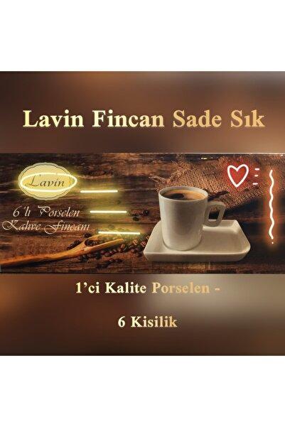 Lavin Inci Porselen Kahve Fincan Takımı Ikramlı Fincan Set