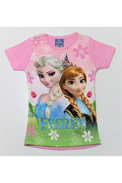 Frozen Kız Çocuk Prensesli Dijital Baskılı  T-Shirt