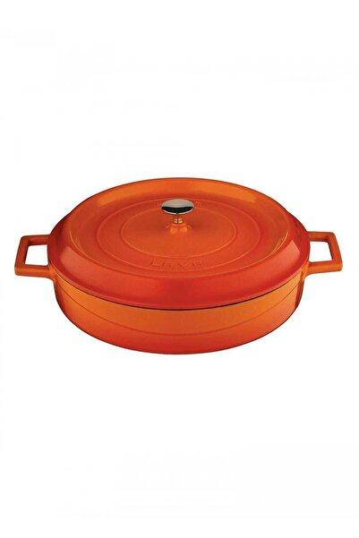 Lava Trendy Çok Amaçlı Döküm Demir Sığ Tencere Çap 24 Cm-turuncu