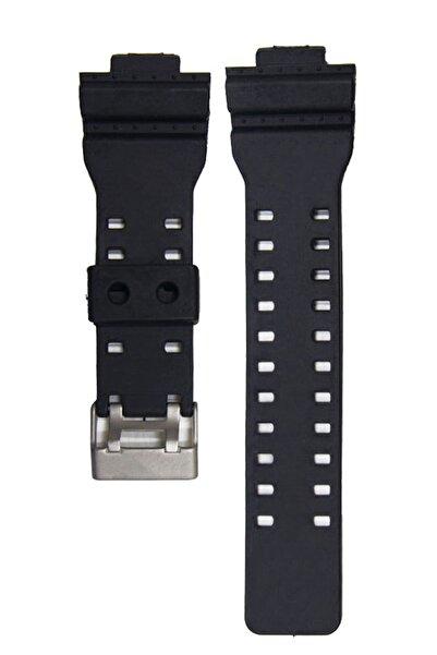 Casio G-shock Ga-100 Ga-110 Uyumlu Mat Siyah Renk Silikon Saat Kordonu Kayışı