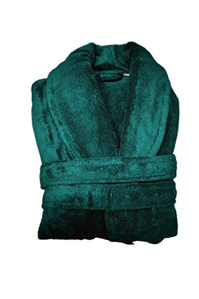 TURKAS Aqua Microcotton Bornoz Petrol Yeşili Renk (S-m Beden)+bone Baş Havlusu