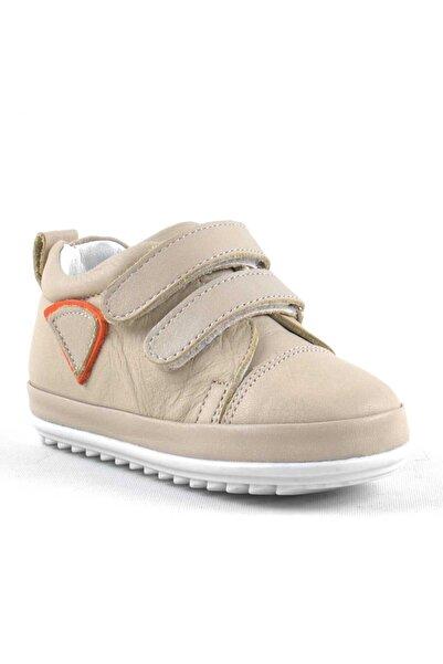 Rakerplus Yumuşak Hakiki Deri Bej İlk Adım Bebek Ayakkabısı