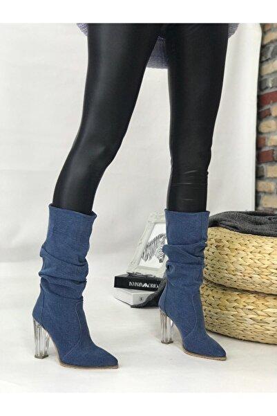 ShoeTek Spring Jeans Bot Lacivert