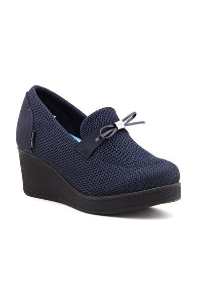KİNG PAOLO Kadın Lacivert Dolgu Topuklu Ayakkabı 6179