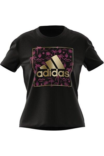 adidas W Foıl Bos G T Black Spor T-Shirt