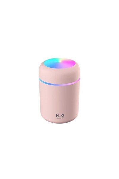 Demirkol Store Led Işıklı Mini Ortam Oda Hava Nemlendirici Ve Taşınabilir Buhar Makinesi Pembe Difüzör