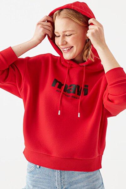 Mavi Kadın Logo Baskılı Kırmızı Sweatshirt 168334-33099