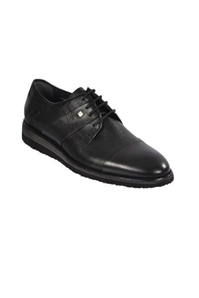 Fosco 1532 Erkek Siyah Klasik Hakiki Deri Ayakkabı