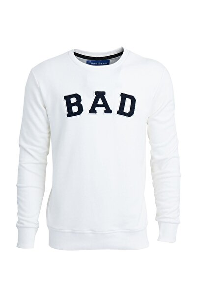 Bad Bear Beyaz Erkek Sweatshırt Bad Convex Off-whıte