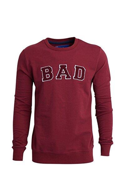 Bad Bear Bordo Erkek Sweatshırt BAD CONVEX MAROON
