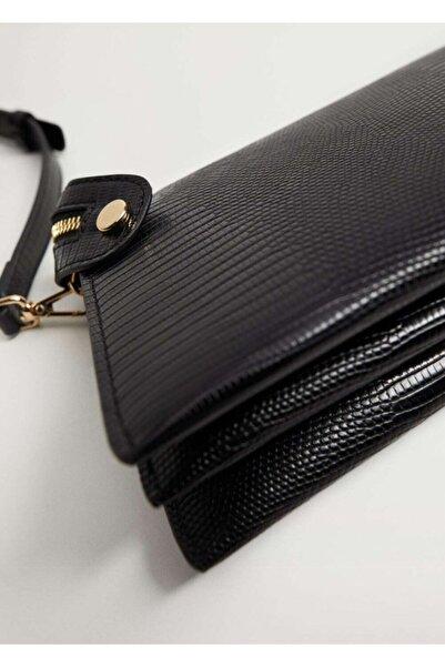 MANGO Woman Fermuarlı Çapraz Çanta