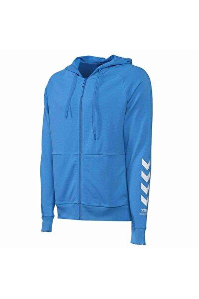HUMMEL Erkek Mavi Fermuarlı Sweatshirt
