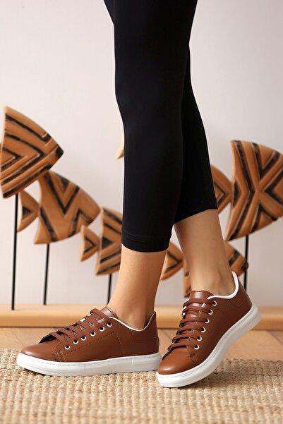 Pembe Potin Kadın Taba Casual Ayakkabı