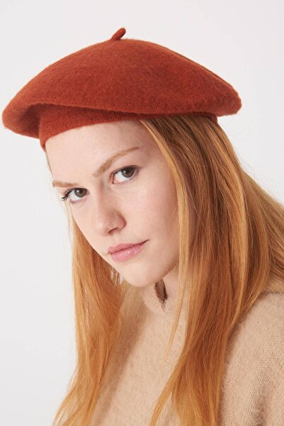Addax Kadın Kiremit Ressam Şapka Şpk16 - E2 ADX-0000023286