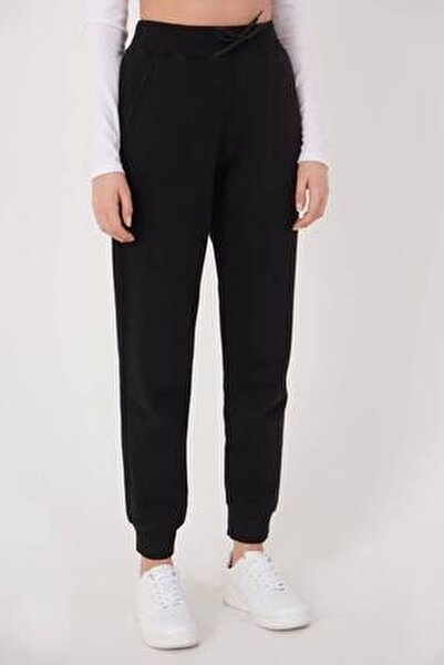 Kadın Siyah Cep Detaylı Eşofman Eşf1040 - H10 Adx-0000022795