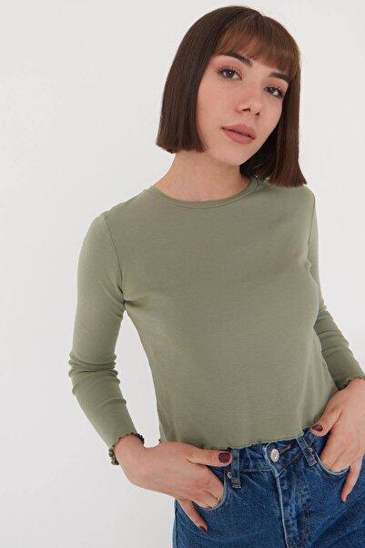 Addax Kadın Su Yeşili Basic Bluz P1084 - Dk2 ADX-0000023311