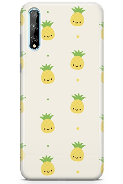 Melefoni Huawei P Smart S 2020 Için Pineapple Serisi Uv Baskılı Silikon Kılıf