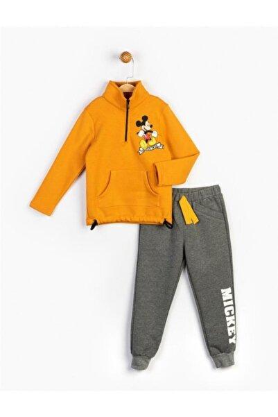 Mickey Mouse Erkek Çocuk Hardal Mickey Takım 16227