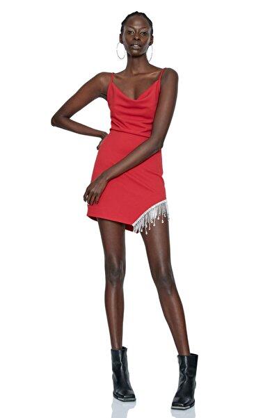 Keikei Kadın Kırmızı Felisha Kolsuz Kısa Elbise