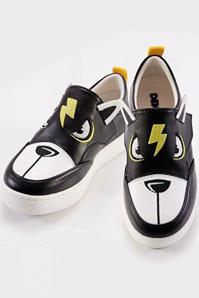 Denokids Şimşek Siyah Erkek Sneakers