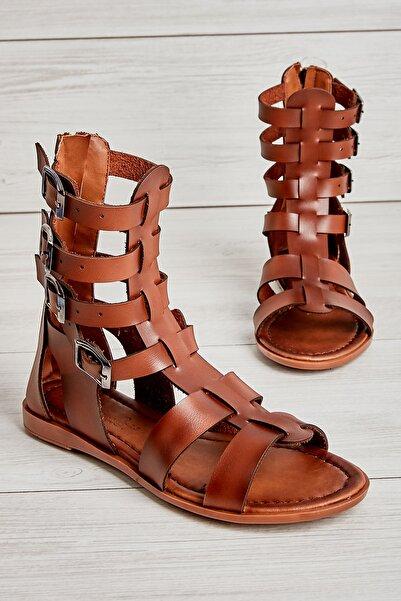 Bambi Kahve Kadın Sandalet L0776030009