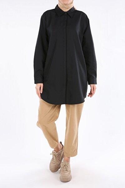ALLDAY Siyah Büyük Beden Gömlek Tunik