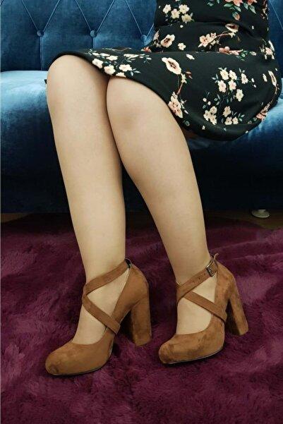 TREND Kadın Taba Topuklu Ayakkabı