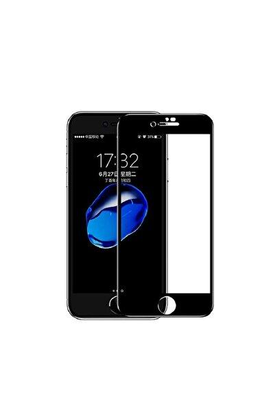 SKV MOBILE Iphone 7 Plus 8 Plus Uyumlu Tam Kapatan Cam Ekran Koruyucu Siyah
