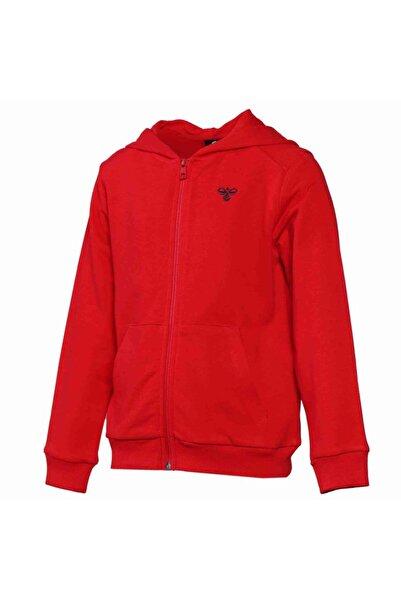 HUMMEL Felinos Unisex Çocuk Kırmızı Fermuarlı Sweatshirt