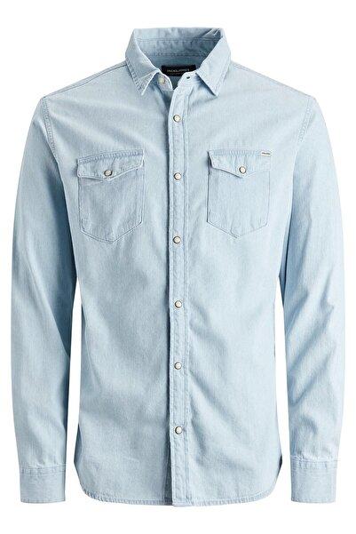 Jack & Jones Erkek Buz Mavisi Gömlek 12138115