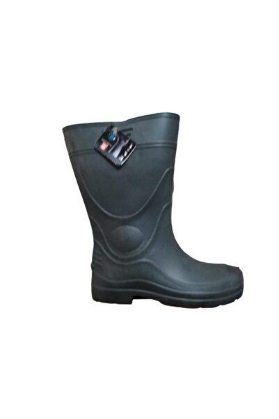 GEZER G044-10 Unisex Füme Eva Ultra Hafif Poli Taban Yağmur Çizmesi