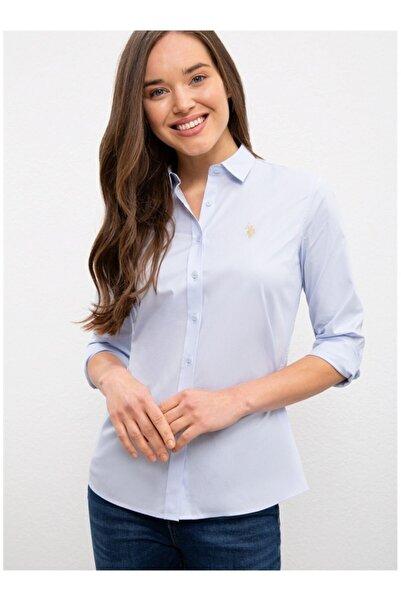 U.S. Polo Assn. Kadın Mavi Gömlek