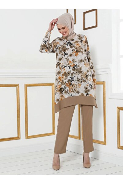 Tavin Kadın Vizon Tunik Pantolon Ikili Takım