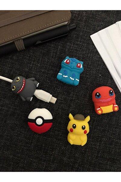 SUPPO Sevimli Silikon Kablo Koruyucu 5'li Poke Set