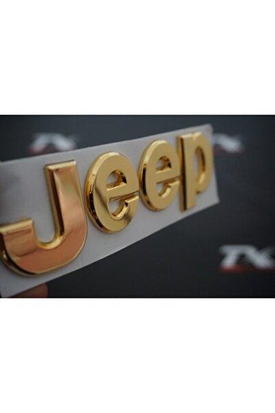 Jeep Kaput Bagaj 3m 3d Logo Amblem Gold Krom