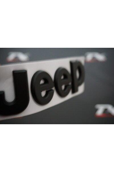 Jeep Kaput Bagaj 3m 3d Logo Amblem Siyah Renk