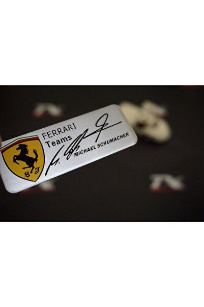 Ferrari Teams Michael Schumacher Torpido Body 3m Krom Metal Logo