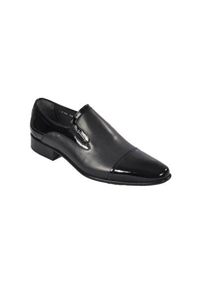 Fosco Erkek Siyah Rugan Hakiki Deri Klasik Ayakkabı 3015-3