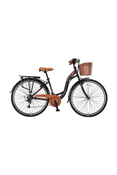 Ümit 2810 Alanya Sepetli Bayan Şehir Bisikleti 28 Jant 21 Vites Siyah Kahverengi