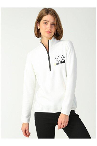 NATIONAL GEOGRAPHIC Kadın Beyaz Sweatshirt