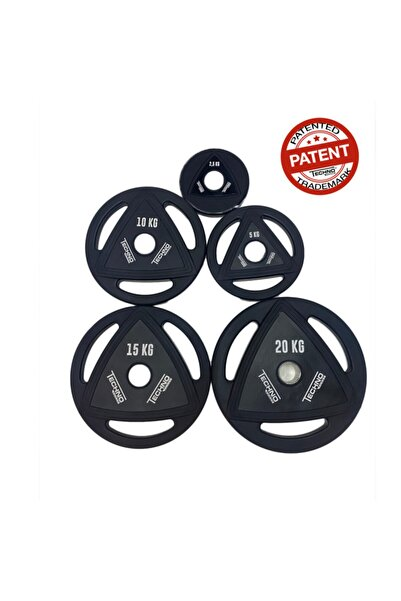 techno power Ağırlık Set 100 kg Plaka + 1 Adet Olimpik Bar 218 cm + 1 Adet Olimpik Z Bar + 4 Adet Bar Kelepçesi