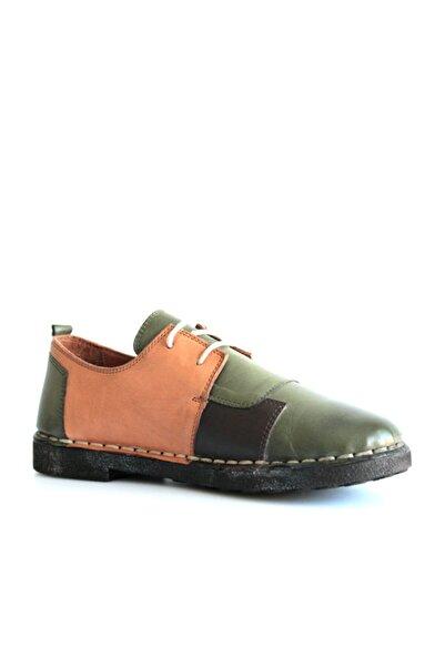 Beta Shoes Kadın Yeşil Hakiki Deri Casual Ayakkabı