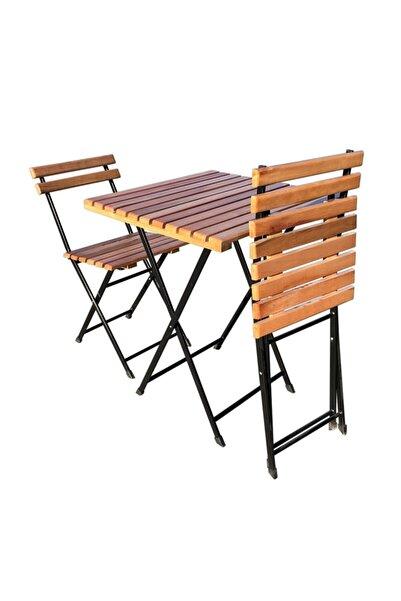 moniev Gürgen Bistro Seti 2 Kişilik Bahçe Masa Sandalye Takımı