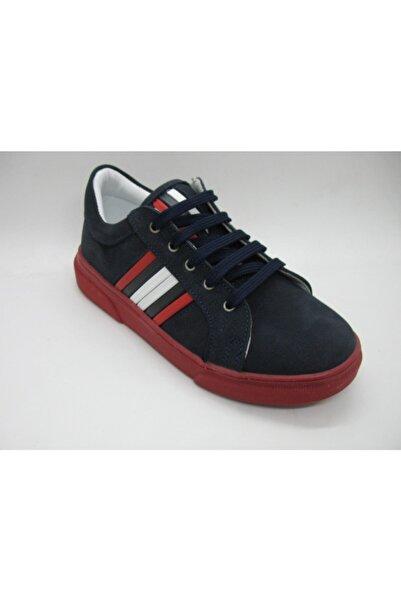 Perlina Erkek Laci-kırmızı  Iç Dış Deri Ortopedik Spor Ayakkabısı 31-35 01404
