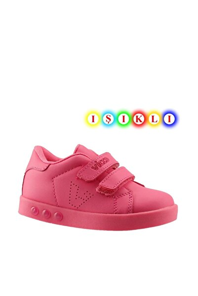 Vicco 313.p19k.100 Oyo Kız Çocuk Işıklı Spor Ayakkabı Fuşya 26-30
