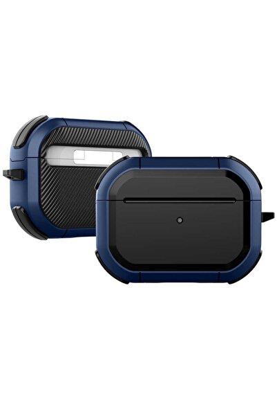 zore Airpods Pro Uyumlu Mavi Siyah Silikon Kılıf