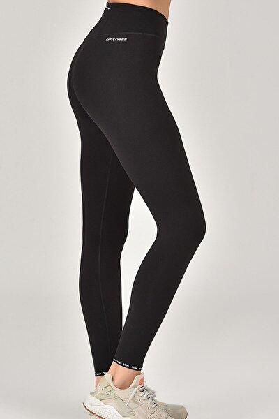 bilcee Siyah Sporcu Kadın Tayt Fw-1510